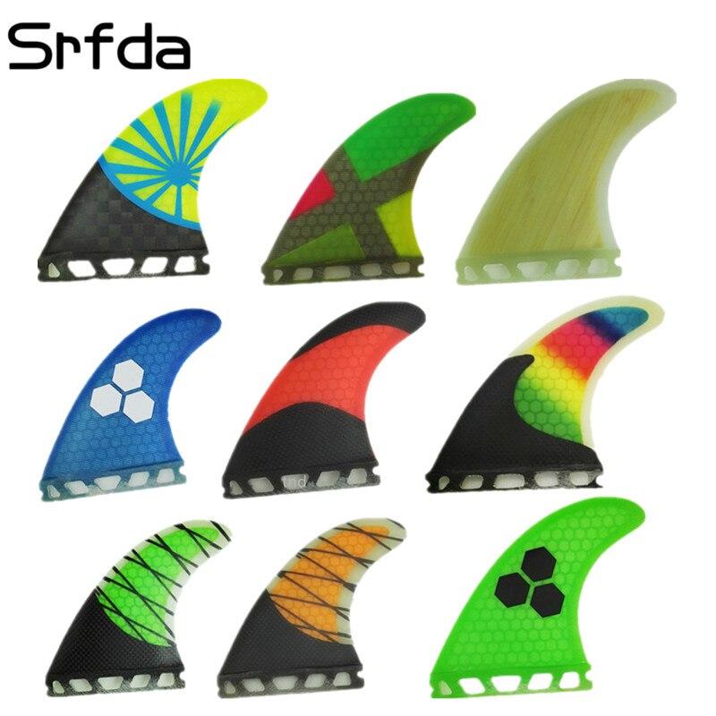 Srfda, Envío Gratis, fibra de vidrio y aleta de tabla de surf de panal de abeja, propulsor para Future G3 G5 G7, aletas de surf de aleta, tamaño S/M/L, aletas Top qual
