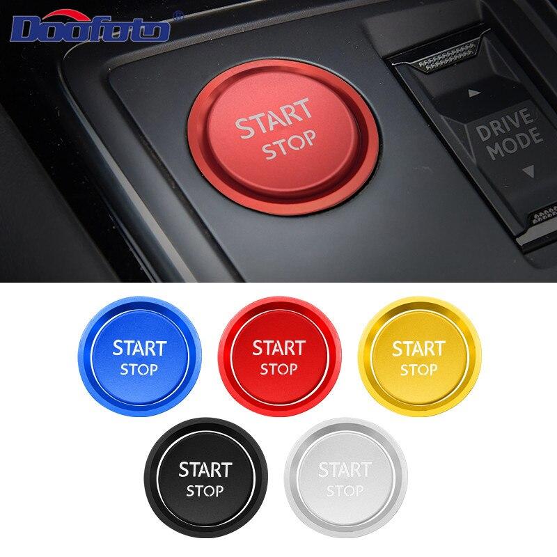 Doofoto pegatina interior para coche empezar botón cubierta de accesorios de estilo para Peugeot 308 Peugeot 408 508L 2008, 3008, 4008, 5008
