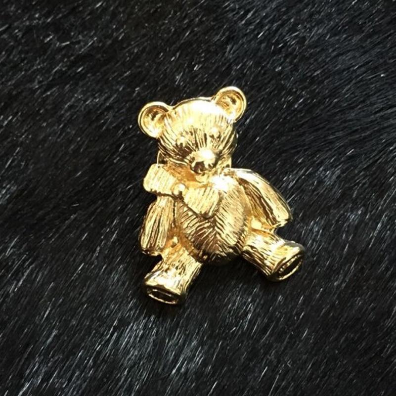 Moda Bonito Pequenos Animais Urso Broche Broche Broches Golded Colar Mulheres Festa Chique Jóias Broche Broches