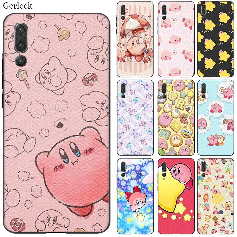 Desxz de la caja del teléfono celular de silicona amor Kirby para Huawei Honor 7A 7C 7X 8 8X 8C 9 20 S Pro Nota 10 Lite funda