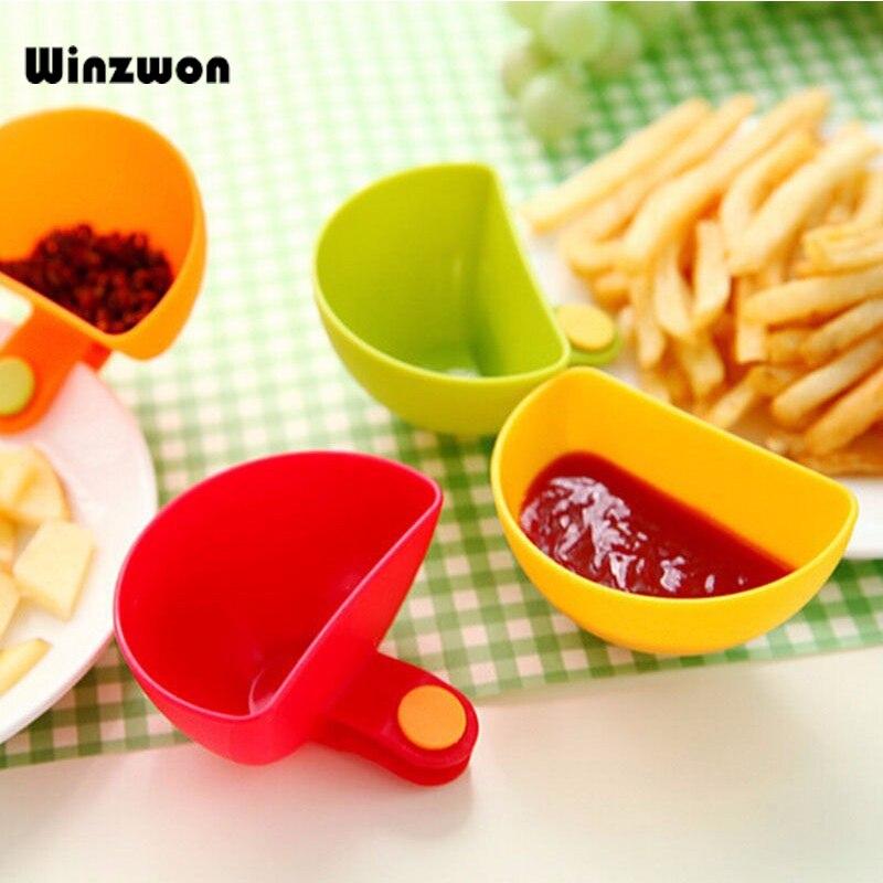 1 шт. Dip клипсы набор кухонных чаш инструмент блюдо для специй зажим для томатного соуса соль уксус сахар аромат специи держатель кухонный инструмент для специй