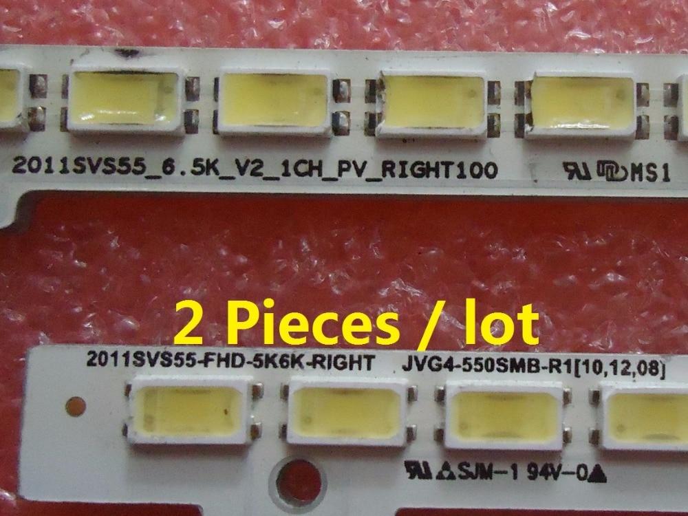 UA55D6600WJ LTJ550HW01 BN64-01664A tira de LED 2011SVS55-FHD-5K6K-LEFT derecha 680mm 100LED 2 unids/lote