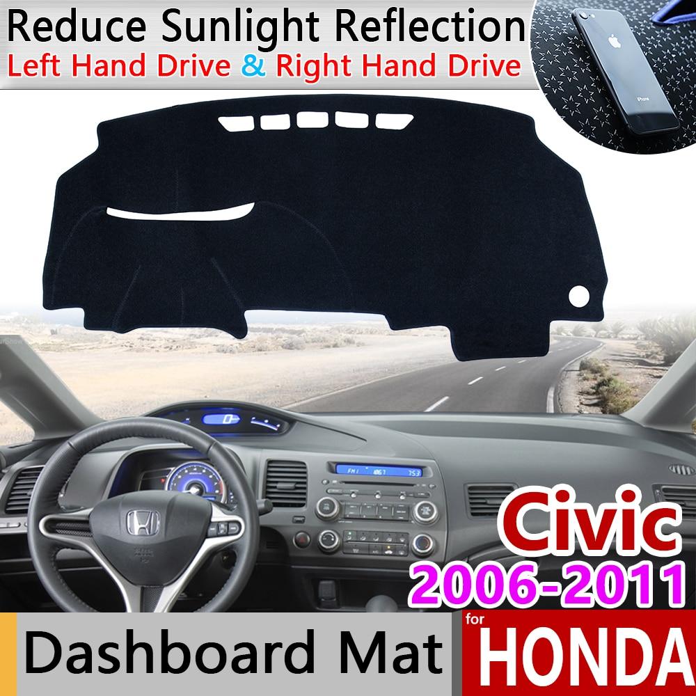 for Honda Civic 8 2006~2011 Anti-Slip Mat Dashboard Cover Pad Sunshade Dashmat Protect Carpet Accessories FB FK FA FD 2007 2008