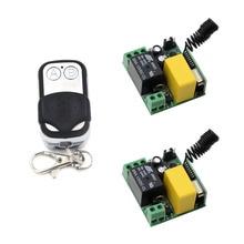 Mini Size AC 220V 1CH Radio Relay Wireless Remote Control Switch Remote Light Switch 10A Receiver + 2CH Transmitter