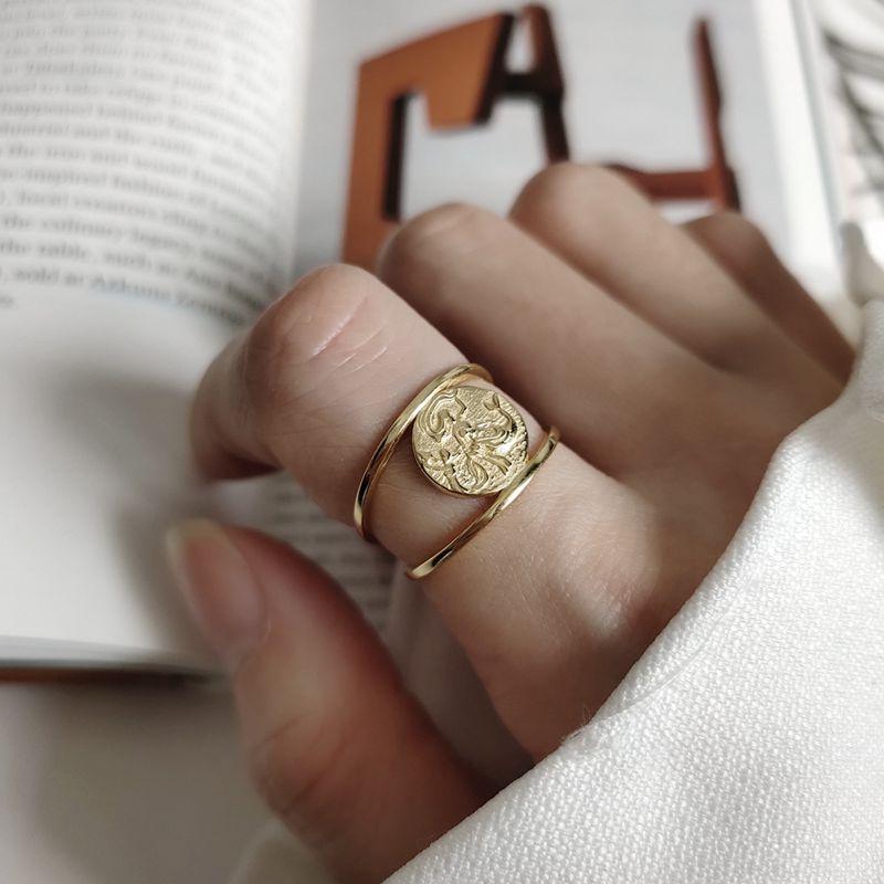 Anillos de plata de ley 925 Silvology, anillos elegantes creativos de pelo redondo largo dorado para mujer, joyería de moda, abalorio de regalo