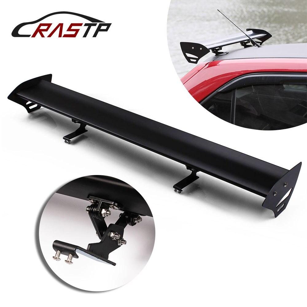 RASTP-43.3 de aluminio ajustable sin perforación Auto coche Hatchback Spoiler estilo GT alerón trasero del alerón de la cola del alerón RS-LTB137