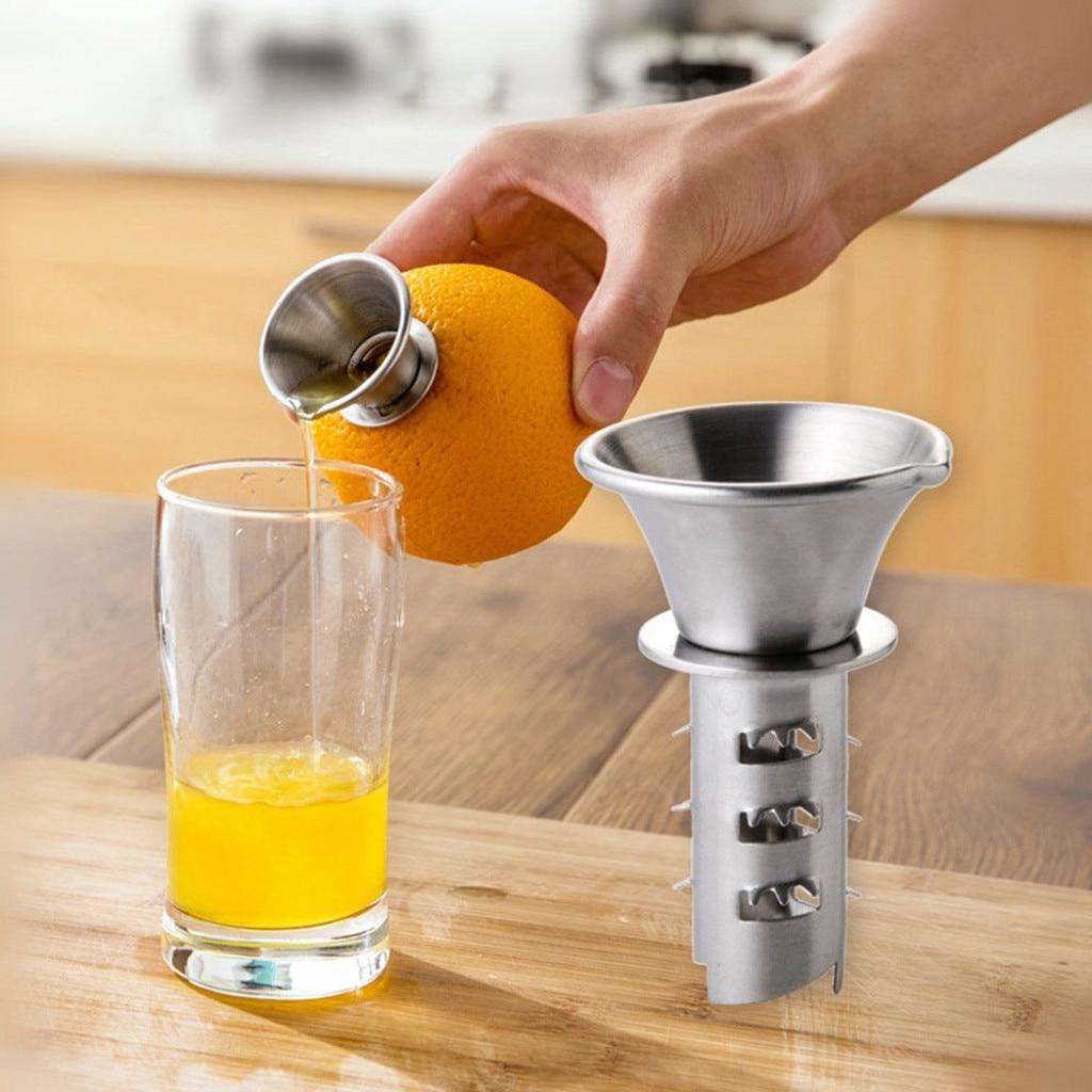 2020 New Kitchen Fruit Tool Lemon Squeezer Orange Juicer Stainless Steel Manual Drill #NN0221