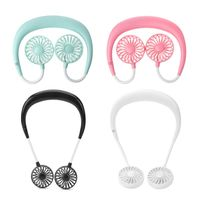 USB Rechargeable 3 Gears Portable Wearable Fan Hands-free Neck Hanging Mini Sports Fan Air Cooler