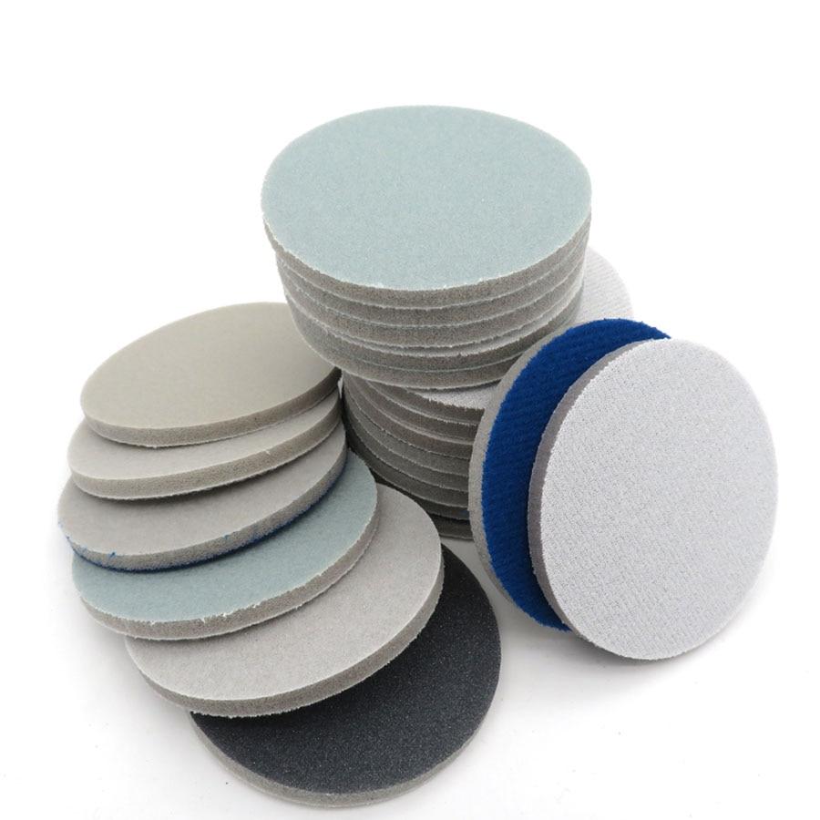 "1"" 1.2"" 2"" 3"" 4"" 5"" 6"" Spong Foam Sandpaper Disc 300-3000 Grit Hook Loop Polishing Sanding Paper Self-sticking Abrasive Tools"