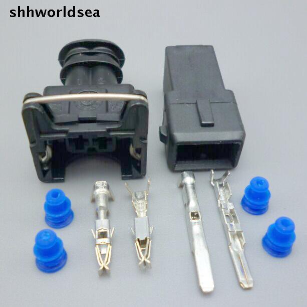 shhworldsea 2 Pin EV1 282762-1 Car Waterproof Connector Female male Automobile Fuel Injector Spray Nozzle Connecctor For CHANGAN