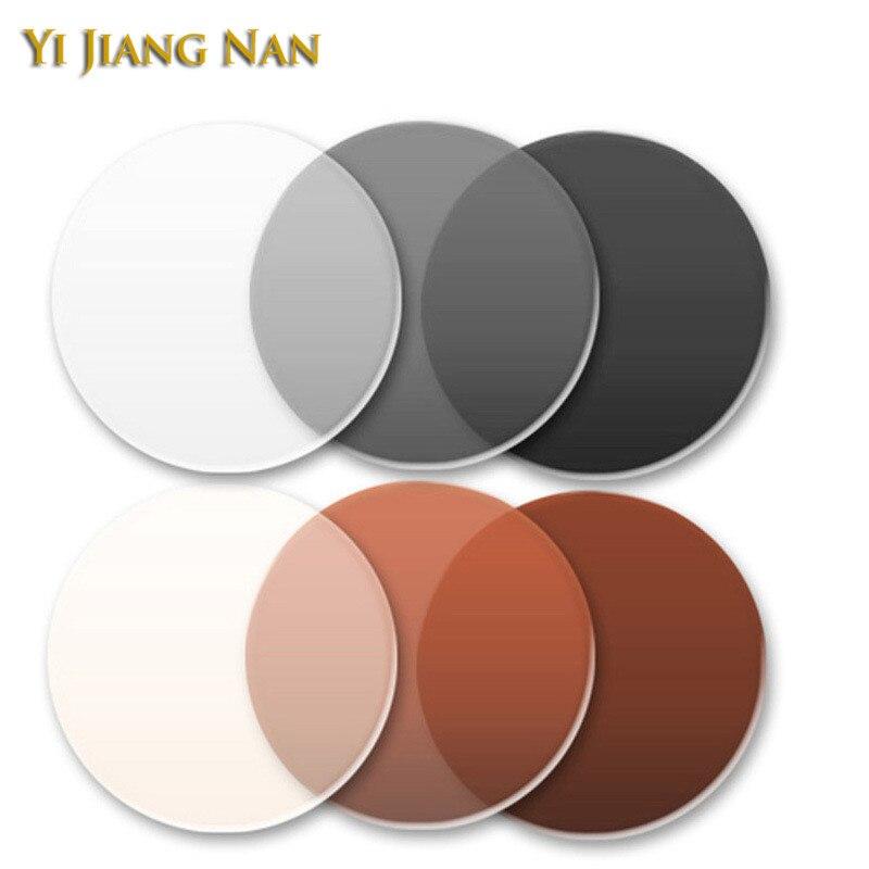1.56 índice photochromic marrom anti brilho camaleão lentes transição vidro proteção uv cinza vidro escuro