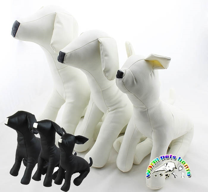 3 unids/lote perro Torsos modelos de cuero maniquís de perro ropa para mascotas ropa de modelo para los productos de la tienda