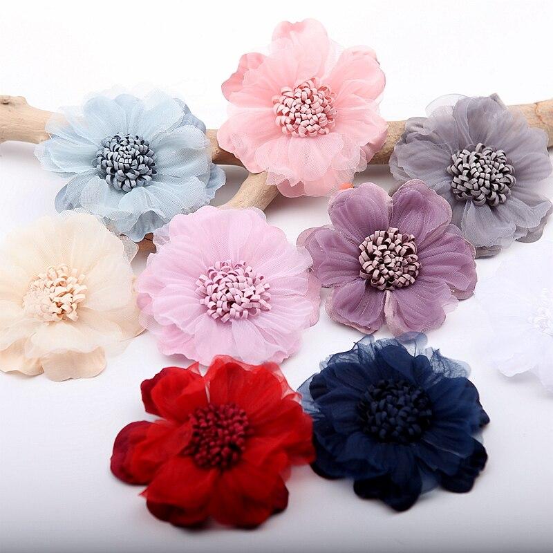 NEUE 10 farbe 4 Teile/los Spitze trim-patch applique spitze stoff Hochzeit kleid DIY blumen braut haar schleier kleidung Headwear dekoration