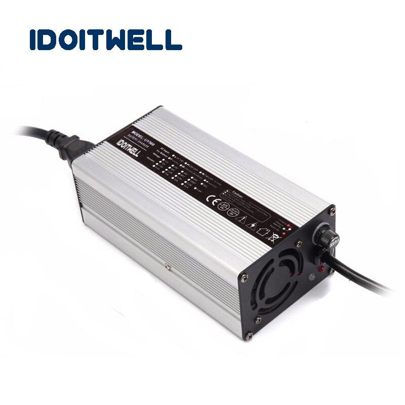 Cargador inteligente de batería de litio 48V 6A cherger 54,6 V 6A carrito de Golf tour bus 13S 48 voltios Li-ion cargador de batería con CE RHOS