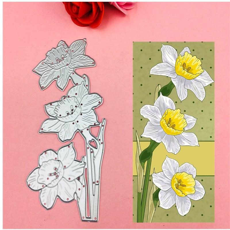 Troqueles de metal para cortar flores y hojas, troqueles para álbum de recortes, carpeta en relieve, traje para sizzix fustella máquina de corte Big Shot