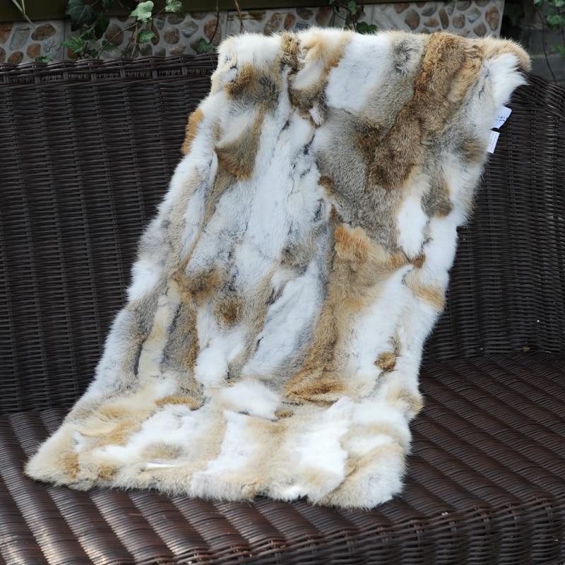 CX-D-18D السرير حصيرة مخصص خليط الأرنب الفراء الفراء الحقيقي أريكة منطقة البساط ~ انخفاض الشحن