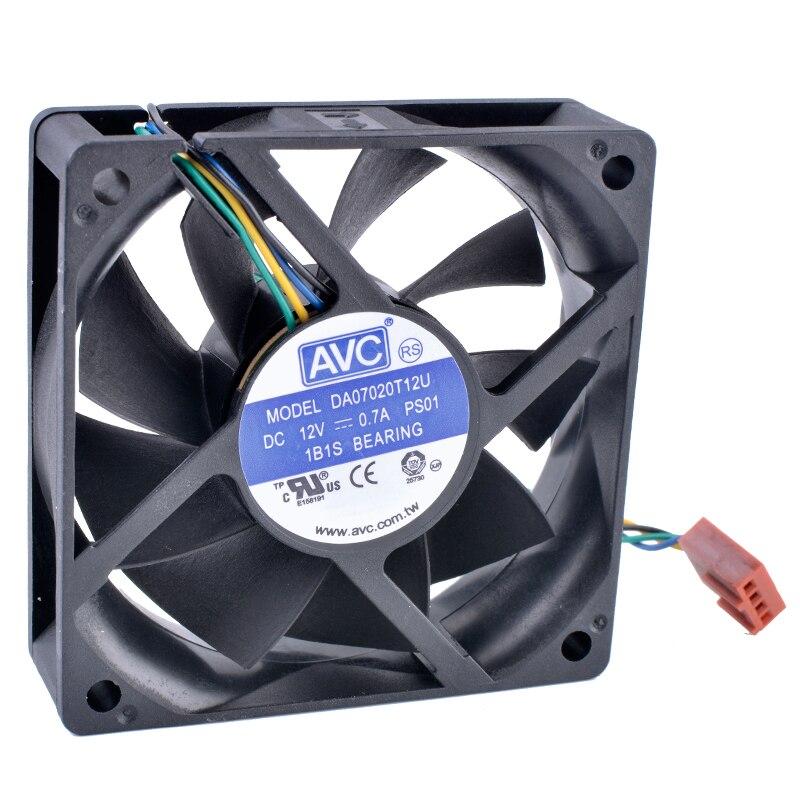 Cooling Revolution DA07020T12U 70mm fan 7020 70x70x20mm 7cm 12V 0.70A computadora CPU 4-Alambre de 4pin PWM el volumen de aire de ventilador de refrigeración