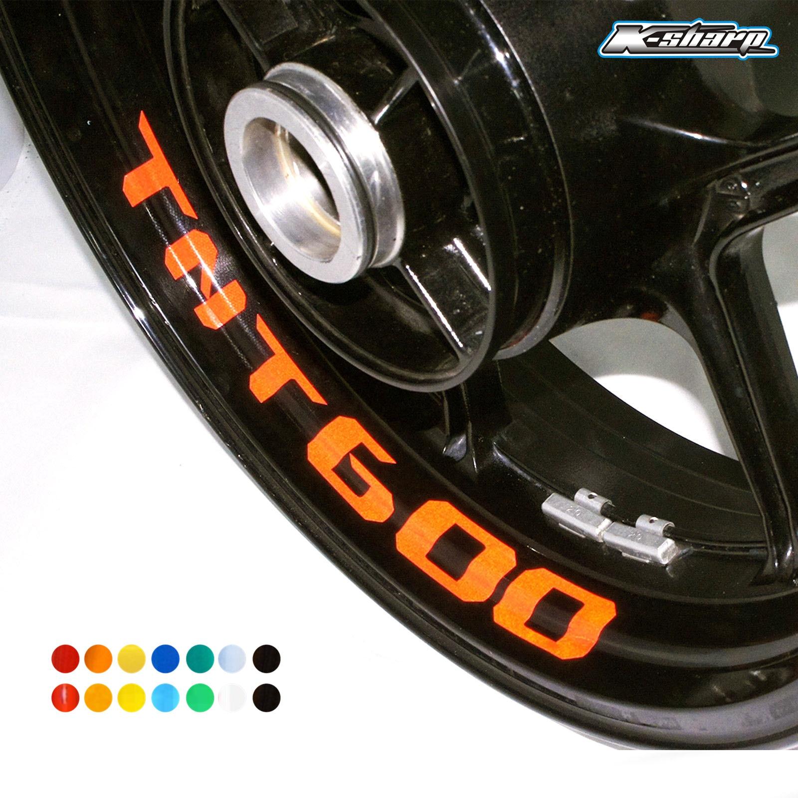 8 X custon interior decalques aro da roda reflexivo Adesivos sinal stripes FIT BENELLI TNT 600 TNT600