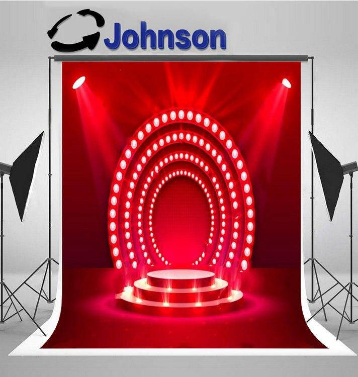 Escenario rojo podio luz brillante telón de fondo de alta calidad impresión por ordenador fotografía de pared fondos
