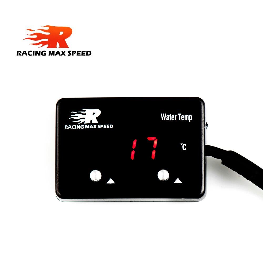12v dc auto digital Celsius temp Meter red display digital water temperature gauge with 1/8 npt sensor