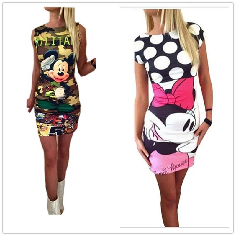 5XL Plus Size Women Floral Print Dress Summer 2019 Sexy Slim Bodycon Package Hip Party Dresses Female Cartoon Cute Dress Vestido
