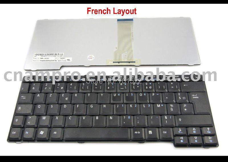 5 x Novo notebook teclado Do Portátil para Acer Aspire 1360 1520 1660 3010 5010 Black Series Francês Clavier FR AZERTY -NSK-A430F