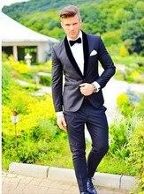2015business Men Suits slim fit wedding men dress One Button Charcoal Gray groom tuxedo slim fit 2015 mens suits with pants tie