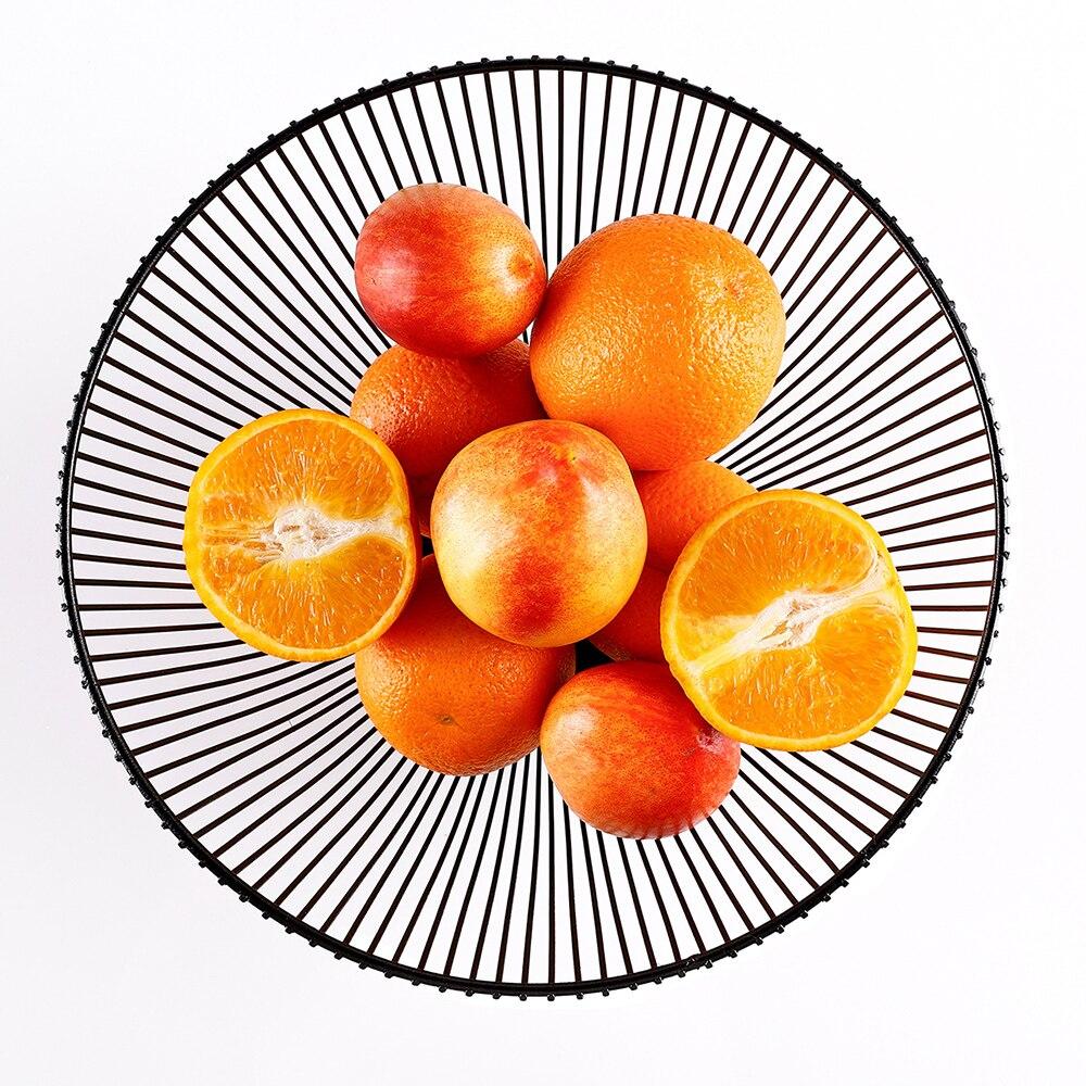 Cesta de frutas estilo nórdico preto branco ferro forjado moderna cozinha criativa drenagem cesta casa sala estar lanche frutas tigela