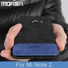 Für Xiaomi Mi Hinweis 2 Fall Abdeckung Stoßfest Zurück Abdeckung Stoff Tuch Schutzhülle Silikon Fällen Capas MOFi Original Note2 Fall