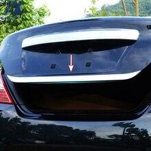 AX Chrome Rear Trunk Tail Gate Door Cover For Nissan Latio Almera Versa 2012 - 2017 Boot Trim Edge Molding Strip Garnish Styling