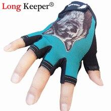 Yeni parmaksız spor eldiven yarım parmak eldivenler erkekler kadınlar hayvan kurt desen spor salonu egzersiz guantes eldiven G-75