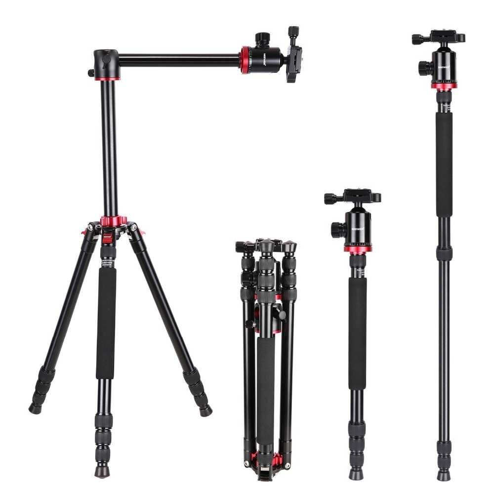 Штатив Neewer для камеры, монопод с вращающейся центральной колонкой для DSLR камеры, видеокамеры до 26,5 Пуна