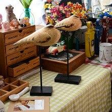 Bûches nordiques de sculpture danimaux   Zakka épicerie, ornements artisanaux, oiseau en bois, mouette, décor de maison