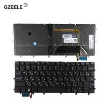 Gzeele Russsian Laptop Toetsenbord Voor Dell Inspiron 13 7000 7347 7348 7352 7353 7359 Ru Zwart Met Backlit