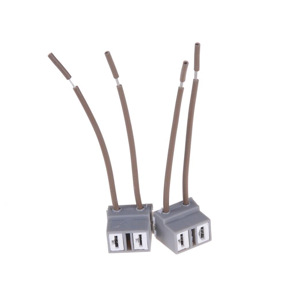 2 pces h7 cablagem do carro 2 pinos maneira conector de fio elétrico plug conectores de automóveis adaptadores para hid lâmpada do carro
