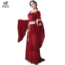 ROLECOS Donne di Marca Rosso Blu Medievale Victorian di Rinascita Abiti Medievale Rinascimentale Costumi Abiti di Sfera Abiti Da Sera