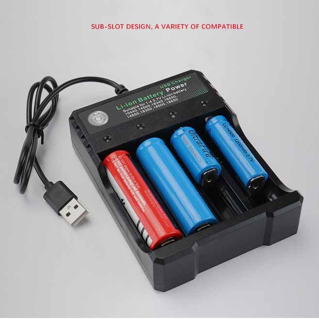 3.7V 18650 Charger Li-ion battery USB independent charging portable electronic cigarette 18350 16340