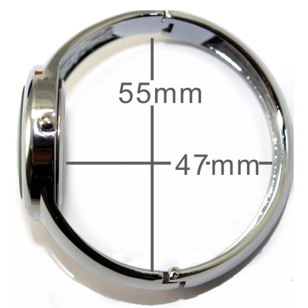 ALEXIS Ladies First Choice Bangle Watches Shiny Silver Band Round PNP Shiny Silver Watchcase Women Fashion Watch  FW678C enlarge