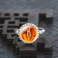 fashion silver color real solid 925 sterling silver ring vintage eye of sauron statement ring summer style ring
