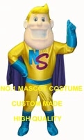 super man hero mascot costume for adult hot sale cartoon super hero theme advertising costumes carnival fancy dress kits 2892