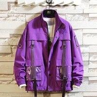 chic mens safari style jacket loose boys coat zipper up students coats cargo casual jackets big size s 5xl s69