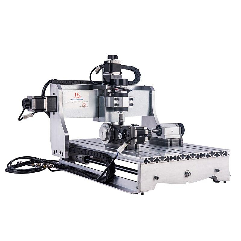 Mini CNC Router 3040 300W husillo CNC 4 ejes CNC madera PCB fresadora grabado