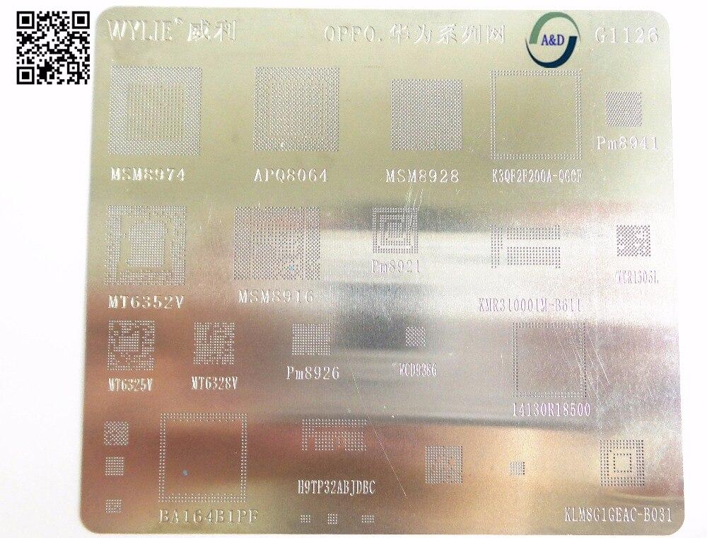 Трафарет для BGA, 1 шт./лот, набор для oppo серии MSM8974 APQ8064 MSM8928 PM8941 MT6352V MSM8916 PM8921 KMR310001M-B61