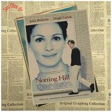 Premiado filme notting hill vintage papel kraft poster escritório presente sala de jantar decoração de casa adesivo de parede design