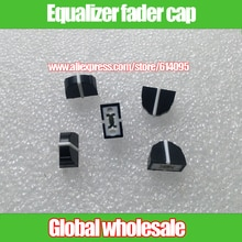 10 stks zwart DBX2231 equalizer fader cap/11mm X 9mm gat 4mm potentiometer fader knop cap