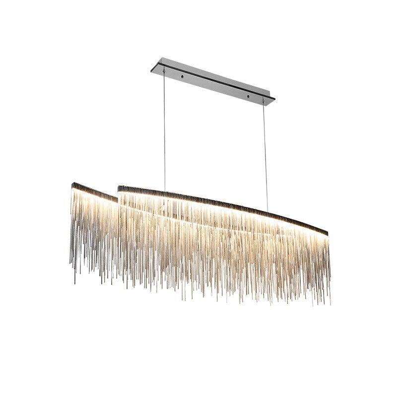 Wongshi nowoczesne trzy kolor pomponem łańcucha aluminium światła wisiorek światła salon willa Nordic twórcze restauracja sklep u nas państwo lampy