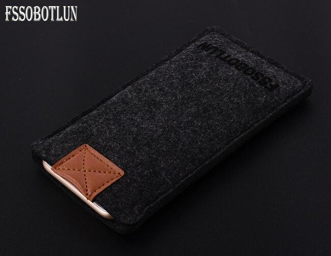"""FSSOBOTLUN, 3 colores, estilo de negocios hecho a mano lana fieltro manga bolsa con bolsillo teléfono Protector funda para ZTE Nubia Z17s 5,73"""""""