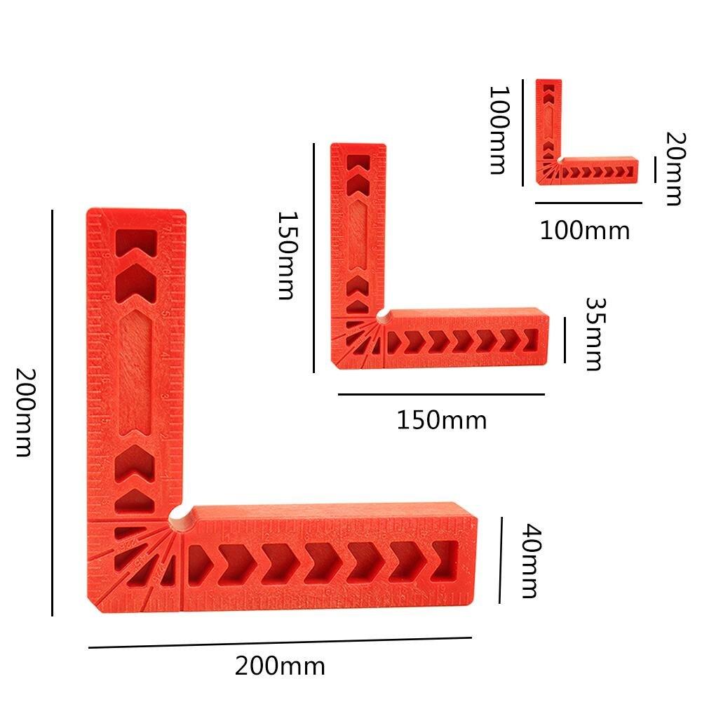 Carpenter's Square kątowy 90 stopni w kształcie litery L pomocniczy uchwyt do pozycjonowania drewna linijka narzędzie do drewna domowego