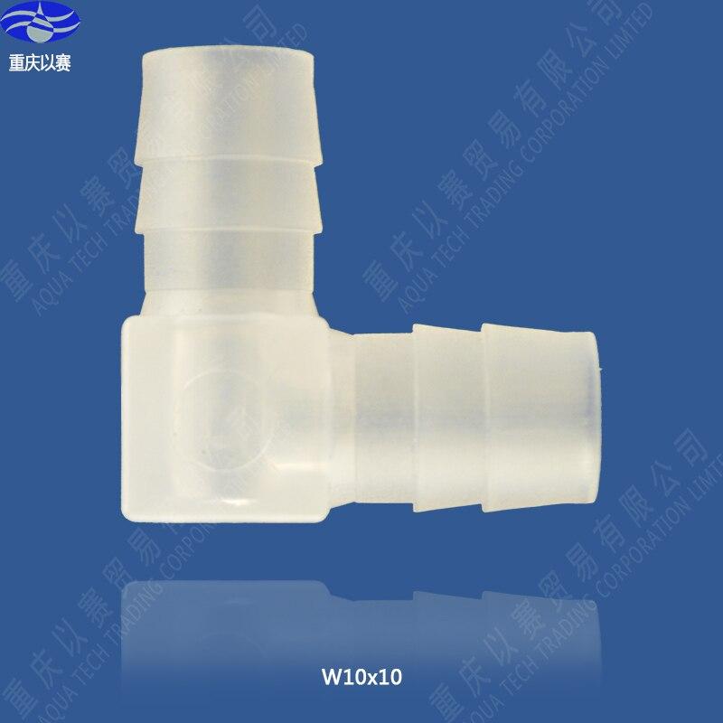 وصلة كوع بلاستيكية سريعة 10 × 10, تجهيزات كوع بلاستيكية لإمداد المياه ، موصل خرطوم ، تجهيزات أنابيب
