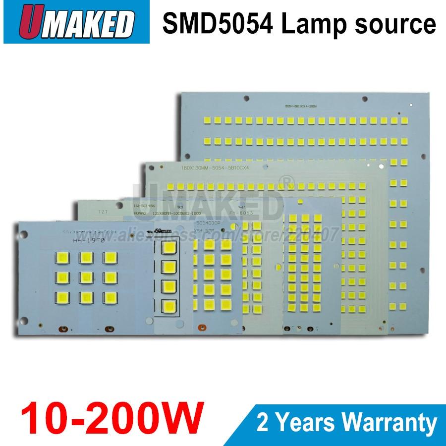 100% полномощный Светодиодный прожектор PCB 10 Вт 20 Вт 30 Вт 50 Вт 100 Вт 150 Вт 200 Вт SMD5054 Светодиодная панель, алюминиевая пластина для светодиодного ...
